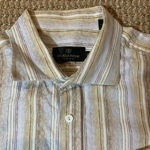 BUGATCHI UOMO Long Sleeve Button-Down Shirt